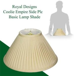 NEW Royal Designs Coolie Empire Side Pleat Basic Lamp Shade, Beige, 5 x 13 x 8 Condtion: New, Beige, 5 x 13 x 8