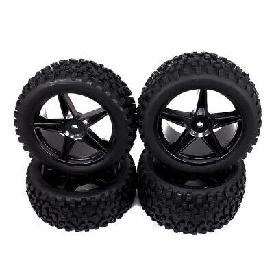 4pc 12mm Front Rear Hub Wheel Rim Tire RC 1/10 Off-Road Car Buggy 5 -