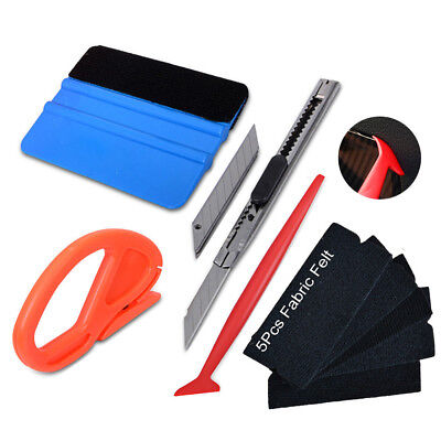 Eco Car Wrap Vinyl Tools Carbon Fibre Felt Squeegee Scratch-free Installation