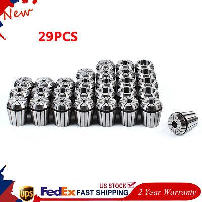 29pcs Er40 Spring Collet Set For Cnc Milling Lathe Engraving Machine 18-1 New