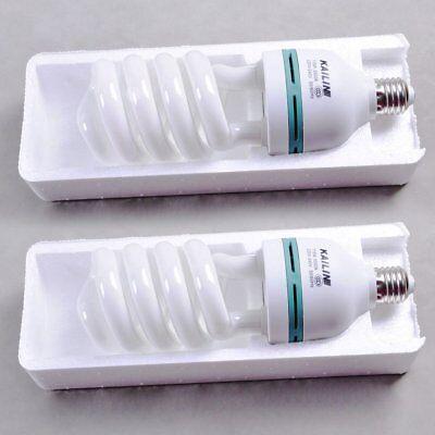 2X Fotoleuchte 135W E27 5500K Energiespar Tagelichtlampe Fotolampe Fotostudio