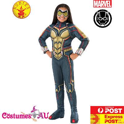 Licensed Kids Wasp Costume Superhero Marvel Fancy Dress Boys Girls Book Week