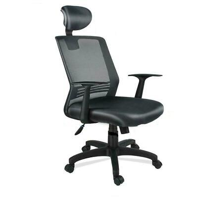 Ergonomic Mesh Office Chair Computer High Back Chair With Adjustable Headrest