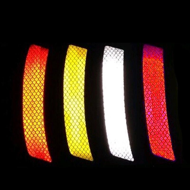 2Pcs Car Bumper Reflective Warning Strip Stickers Decal Auto Supplies 14*2.3cm