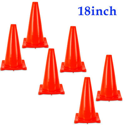6pcs 18 Superior Traffic Cone Yard Road Parking Safety Cones Posts Barriers