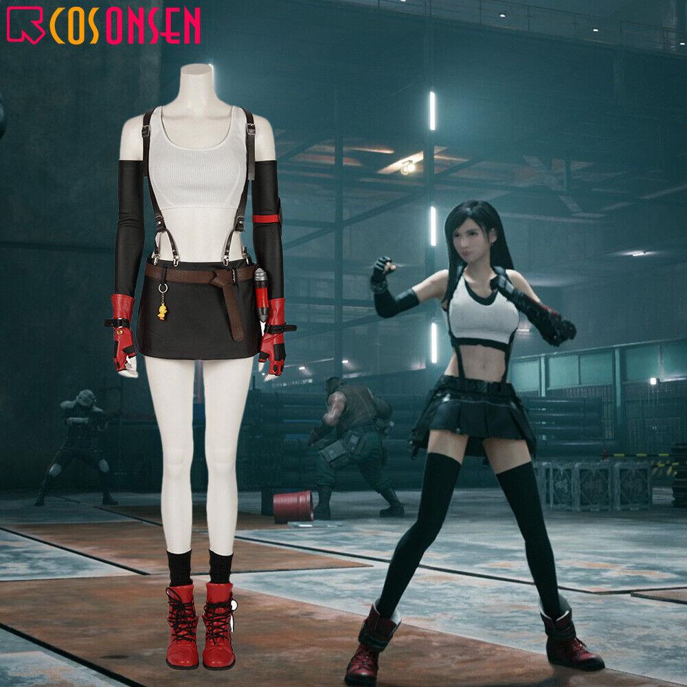 Final Fantasy VII 7 Remake Tifa Lockhart Cosplay Costume Halloween Uniform