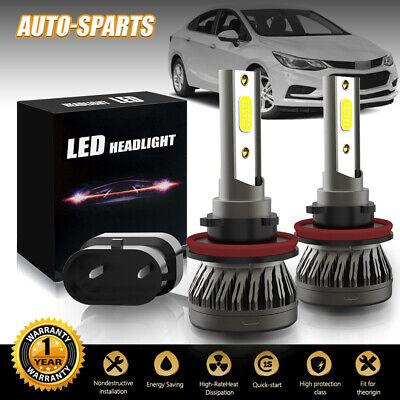 H11 H8 H9 LED Headlights Bulbs Kit High/Low Beam HID 36W 3000LM 6500K White