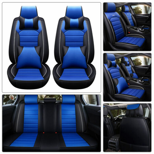 Universal 5D Car Seat Covers Full Accessories Interior Leather 5-Seats Cushions