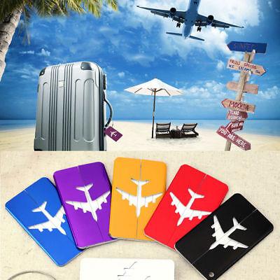 New Aluminium Luggage Tags Suitcase Label Name Address ID Bag Baggage Tag Travel