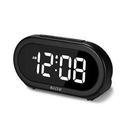 Small Digital Alarm Clock Snooze Bedroom Bedside USB Charging Port LED Display