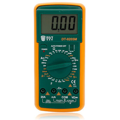 BEST DT9205M 3 1/2 AC/DC LCD Electrical Digital Multi-meter Volt Amp Ohm Tester