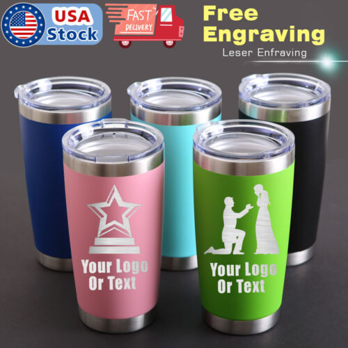 Personalized Stainless Vacuum Insulated Tumblers Custom Birthday Gift Mugs Cups