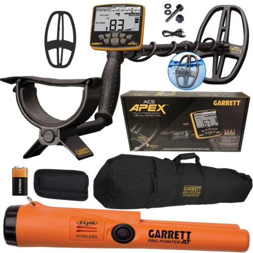 2021 Garrett ACE APEX Metal Detector + Pro-Pointer AT Z-Lynk + Carry Bag