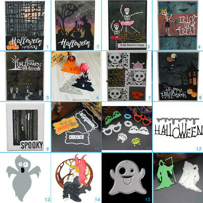 Halloween Club Metal Cutting Dies Stencil Scrapbook Card Album Embossing Craft - Halloween Club