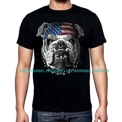 - New American Bulldog shirt US Flag pride july 4 biker pitbull bandana usa