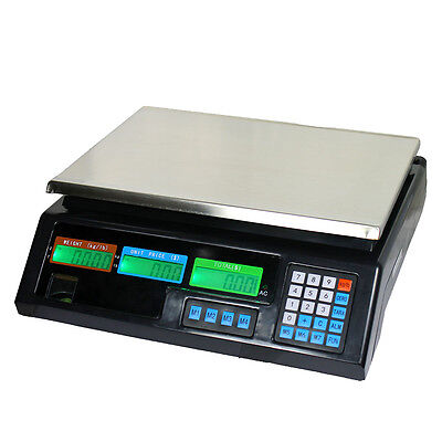 80 Lb Digital Deli Scale Price Computing Food Produce Electrionic Weight Counter