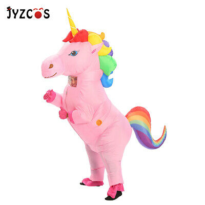 Inflatable Unicorn Costumes Kids Adults Pony Horn Horse Novelty Fancy Dress Suit - Horse Costumes