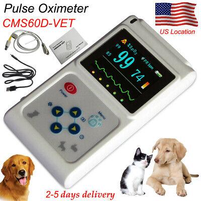 Contec Cms60d-vet Veterinary Pulse Oximeter Handheld Machine Tongue Spo2 Probe