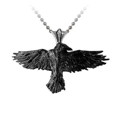 Alchemy Gothic (Metal-Wear) Black Raven Pewter Pendant BRAND NEW