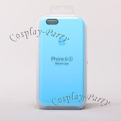 Original Apple Silicone Case Snap Cover For iPhone 6 iPhone 6s (Blue MKY52ZM/A)