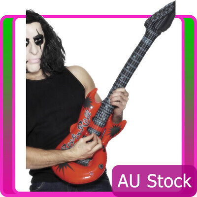 99cm Inflatable Rock N Roll Guitar 70s 80s Disco Punk Party Costume - 70s Costume Accessories