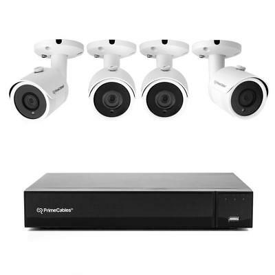 Security Camera System W/ 4 1080P Night Vision Cameras and XVR, iOS/Android App