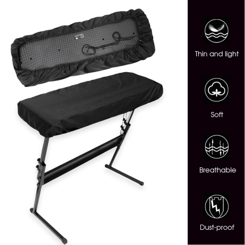 Stretchable Piano Keyboard Dust Cover waterproof for 61 Keys Electronic Keyboard