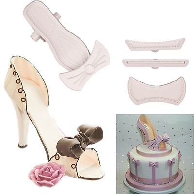 High-Heeled Shoes Baking Cutter Mould Decorating Tools Cake Fondant  Mold