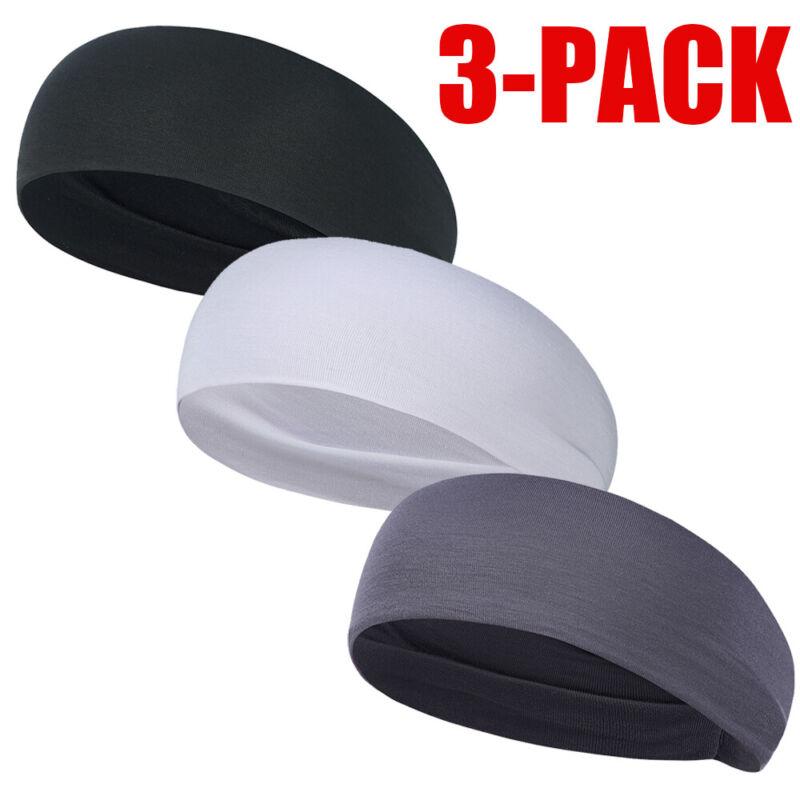 3 PACK Hair Head Band Sweatband Headband Stretch Men Women Wrap Elastic Sports