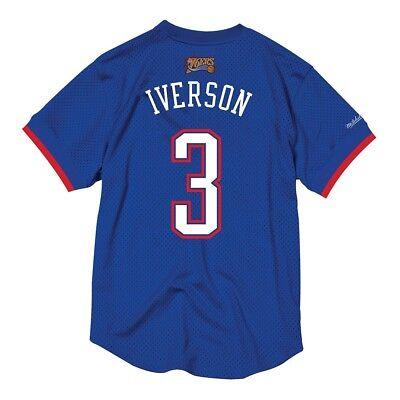Allen Iverson 2004 NBA All Star East Mitchell & Ness Mesh Crew Neck Blue Jersey