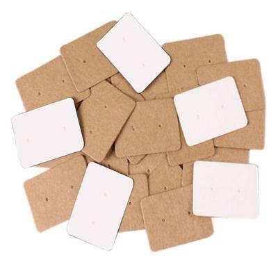Kraft Holder Display Cards Paper Cards Earring Holder Ear Studs Hanging Cards