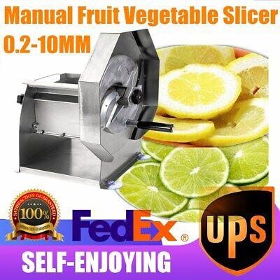 Stainless Steel Lemon Slicer Fruit Vegetable Slicing Machine Commercial 0.2mm Us