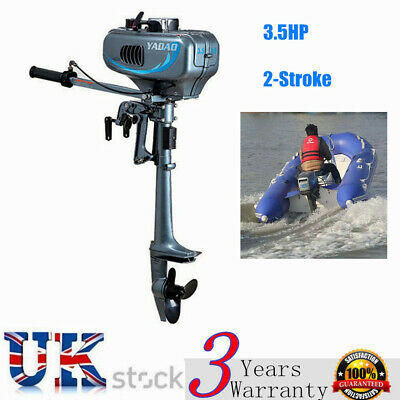 2 Stroke 3.5HP Heavy Duty Outboard Motor Boat Engine w/Water Cooling System UK