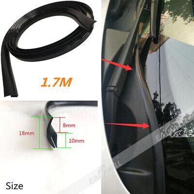 Black 1.7M Car Front Windshield Window Seal Strip Moulding Trim Rubber Strip