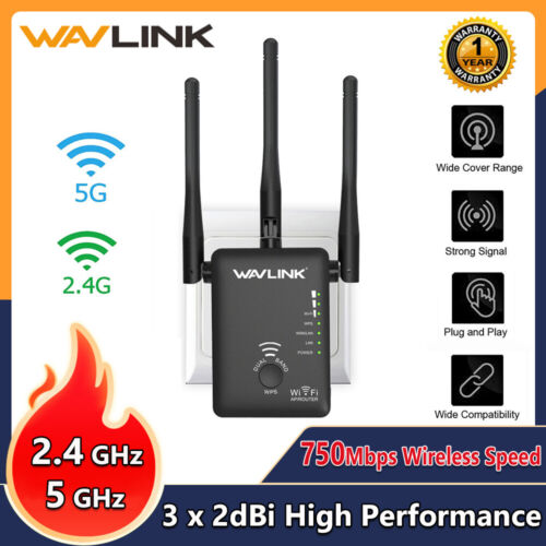 Wavlink AC750 WIFI Repeater 2.4G&5G Router&Wireless Range Ex