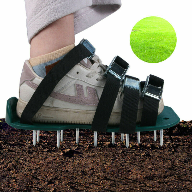 Outdoor Garden Equipment Lawn Aerator Loose Soil Nail Shoes Soil Straw Tools