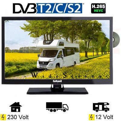 Gelhard GTV2241 LED Fernseher 22 Zoll DVB/S/S2/T2/C, DVD, USB, 12V 230 Volt
