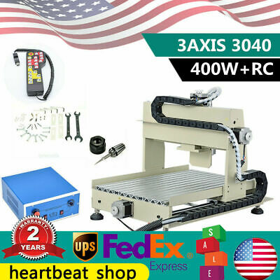 3040 3axis Cnc 400w Router Drilling Milling Engraving Wood Cutter Controller