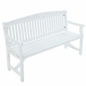 Gardeon 3 Seater Wooden Garden Bench Chair Natural Outdoor Furniture