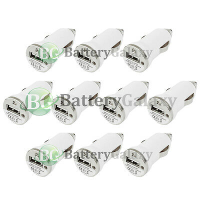 10 NEW USB Battery Car Charger Adapter Mini for Apple iPhone SE 6 6s 7 7s Plus