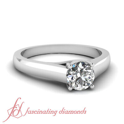 .50 TCW Round Cut SI2-G Color Diamond Solitaire Engagement Ring GIA Certified