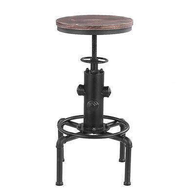 Swivel Barhocker (Metal Industrial Bar Hocker Bar Stuhl Höhe Einstellbare Swivel Pinewood Top T5C8)