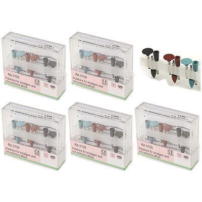 5x Dental Lab Amalgam Polisher Diamond Silicone Burs Cups Kit Ra0109 9pcskit