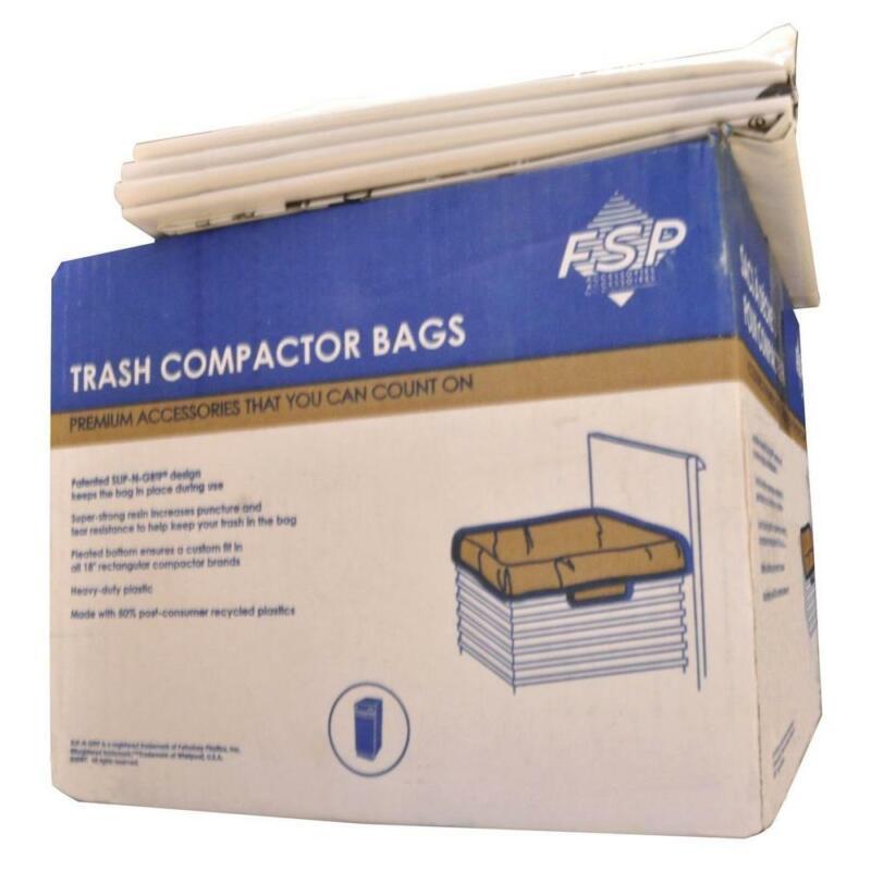 Trash Compactor Bags Plastic Universal Garbage Slip-N-Grip 1