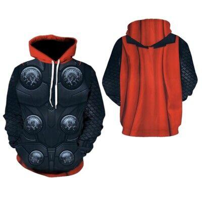Thor Costume Hoodie (Avengers Endgame Thor Men's Hoodie Sweater Unisex Coat Jacket Cosplay)