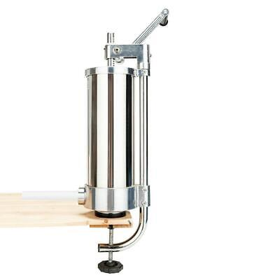 3l 7lbs Sausage Stuffer Maker Meat Filler Stainless Steel Vertiacl Commercial Us