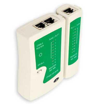 Comprobador de Red Cable ethernet LAN RJ45 RJ11 RJ12 Cat5e Cat6 10/100...