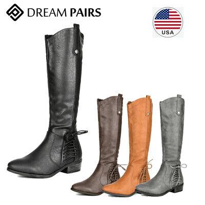DREAM PAIRS Women's Knee High Boot Riding Faux fur Winter bo
