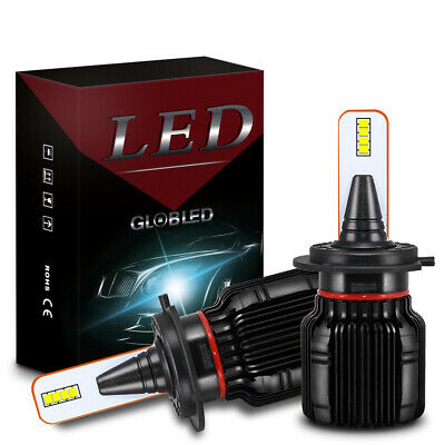 H7 LED Headlight Bulb Kit Fanless Led Headlamp 50W 8000LM 6500K White Hi/Lo Beam