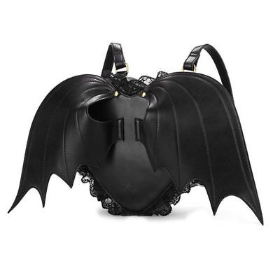 Fashion Gothic Bat Heart Wings Goth Punk Lace Lolita Wing Bag Backpack Girl